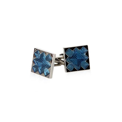 Explosion Cufflinks in Blue