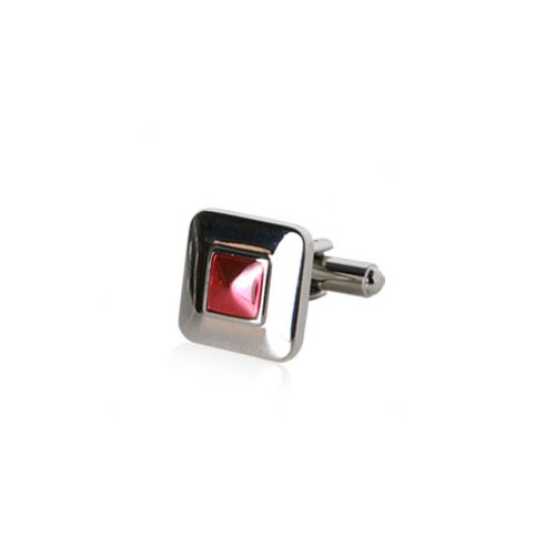 Cuff-Daddy Reflective Square Cufflinks in Red