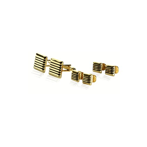 Cuff-Daddy 14 Karat Gold Cufflinks and Studs Set