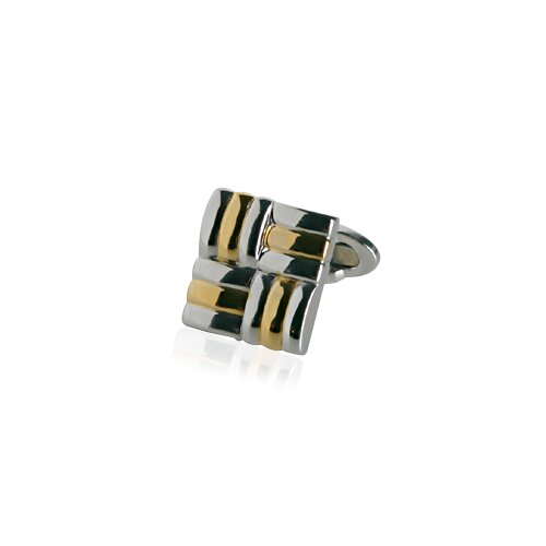 Cuff-Daddy Unique Silver and Gold Cufflinks