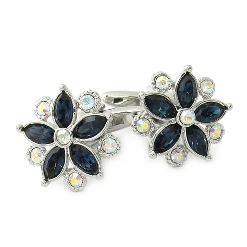 Swarovski Crystal Flower Cufflinks