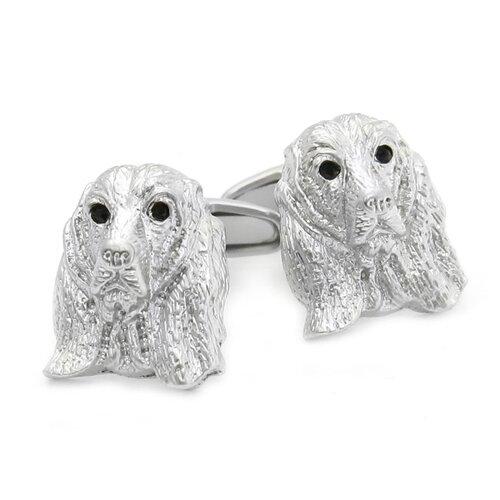 Swarovski Crystal Cocker Spaniel Dog Cufflinks