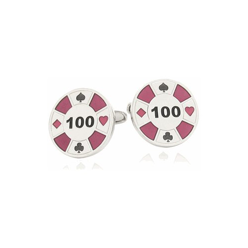 Poker Chip Cufflinks in Red