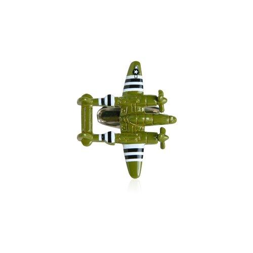Cracked Pepper War Plane Bomber Cufflinks