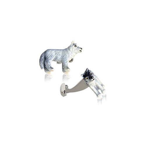 Painted Wolf Cufflinks (Set of 2)