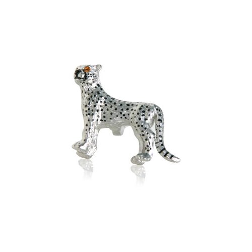 Safari Cufflinks Cheetah Cufflinks with Swarovski Eyes