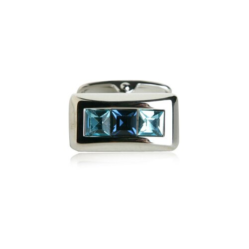 Soho Austrian Crystal Cufflinks in Blue