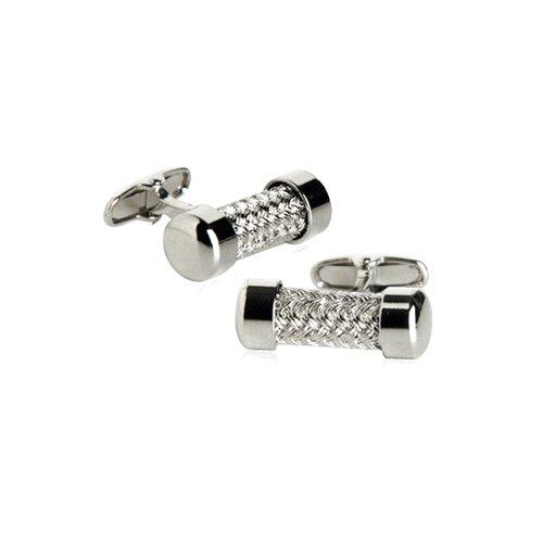 Soho Austrian Silver Pipe Cufflinks