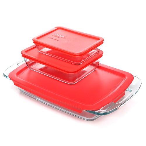 Pyrex Easy Grab 6 Piece Bakeware Set