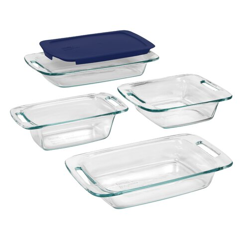 Easy Grab 5 Piece Bakeware Set with Plastic Cover