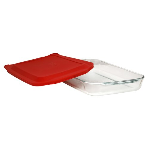 4 Qt. Oblong Baking Dish with Plastic Cover