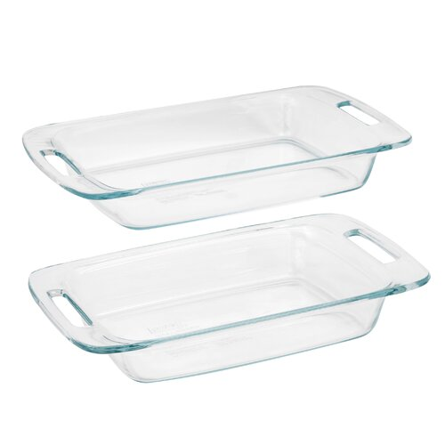 Pyrex Easy Grab 2 Piece Oblong Baking Dish Set