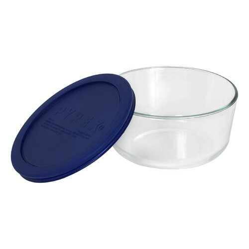 Storage 4-Cup Round Dish with Plastic Cover
