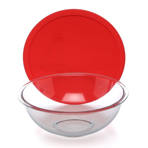 Pyrex Smart Essentials 8 Piece Mixing Bowl with Colored Lid Set