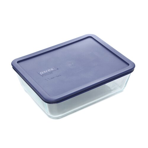 Pyrex 11 Cup Storage Plus Rectangular Dish wIth Plastic Cover