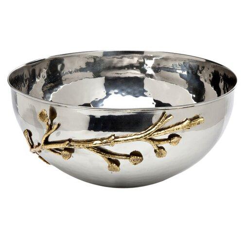 Godinger Silver Art Co Leaf Salad Bowl