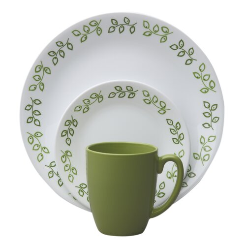 Livingware Neo Leaf 16 Piece Dinnerware Set