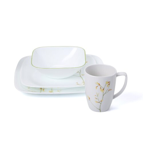 Corelle Square Kobe 16 Piece Dinnerware Set & Reviews | Wayfair