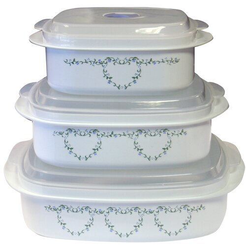 Coordinates Microwave Cookware and Storage Set with Country Cottage Design