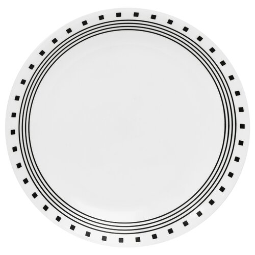 "Corelle Livingware 10.25"" City Block Dinner Plate"