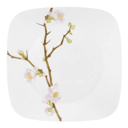 "Corelle Square 10.5"" Cherry Blossom Dinner Plate"