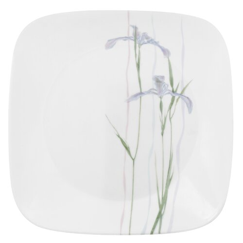 "Corelle Square 9"" Shadow Iris Plate"