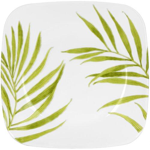"Corelle Square 9"" Bamboo Leaf Plate"