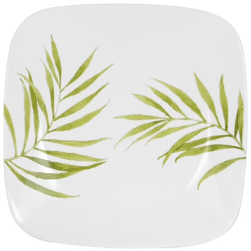 "Corelle Square 10.5"" Bamboo Leaf Dinner Plate"