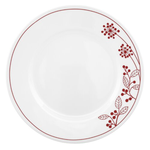 "Corelle Vive 10.75"" Berries and Leaves Dinner Plate"