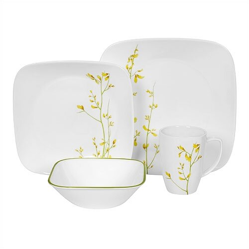 Corelle Square Kobe 16 Piece Dinnerware Set