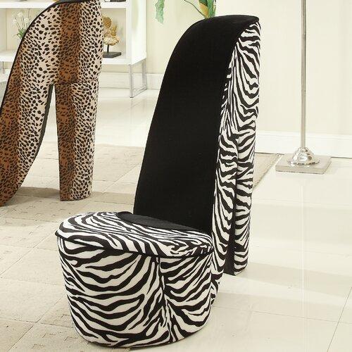 Zebra High Heel Chair