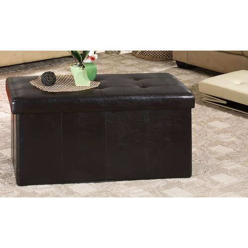 Williams Import Co. Leather Storage Ottoman