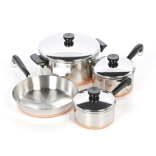 Revere Cookware 1400 Line Stainless Steel 7-Piece Cookware Set