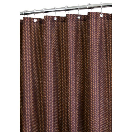Prints Polyester Bamboo Basket Shower Curtain