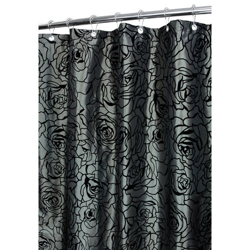Cabbage Rose Polyester Shower Curtain