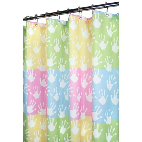 Watershed Watershed Prints Polyester World Hands Shower Curtain