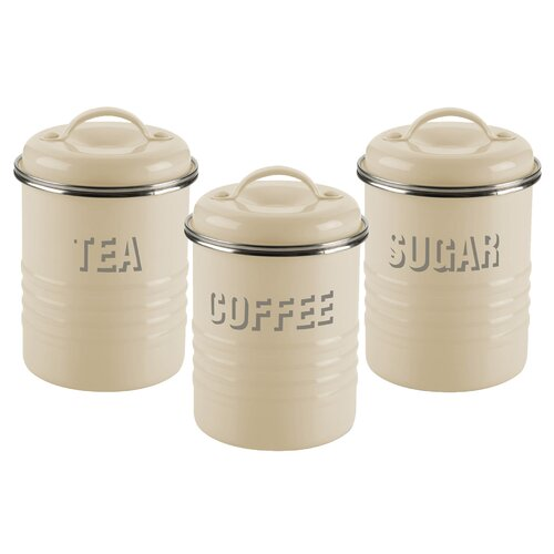 Cream Kitchen Storage Jars: Magnetic Spice Rack Set