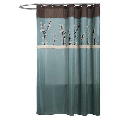 Special Edition by Lush Decor Cocoa Flower Polyester Shower Curtain