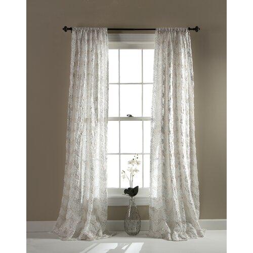Lush Decor Giselle Curtain Panel Reviews Wayfair