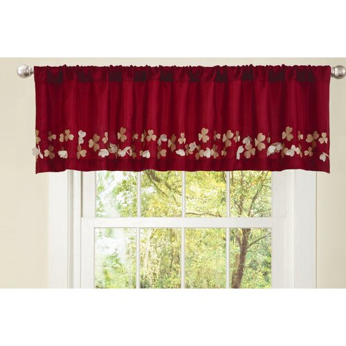 Lush Decor Cocoa Flower 84 Curtain Valance Amp Reviews