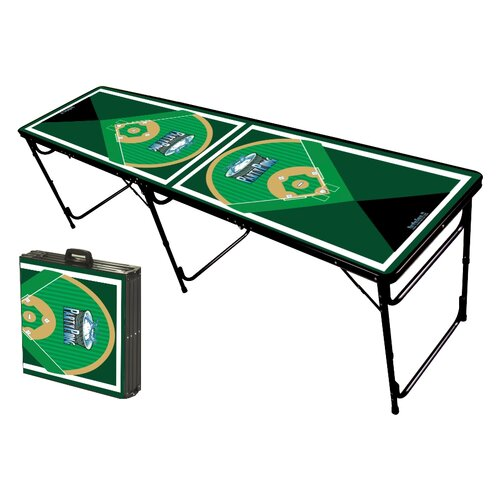Party Pong Tables Baseball Diamonds Folding and Portable Beer Pong Table