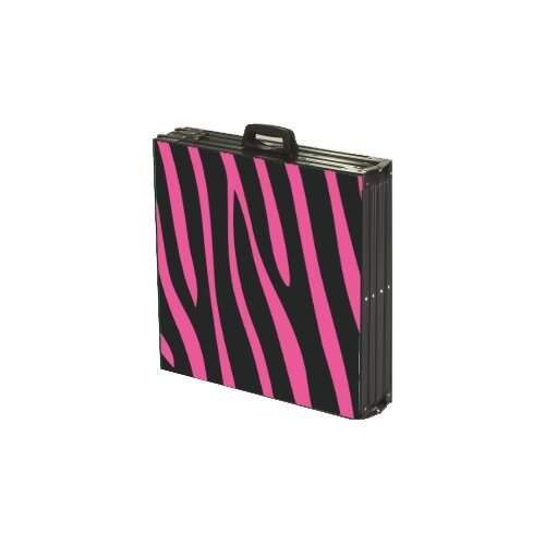 Party Pong Tables Pink Zebra Folding and Portable Beer Pong Table
