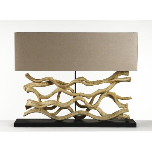 """Le Sculpture Wide 18"""" H Table Lamp with Rectangular Shade 