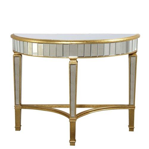 Florentine Half Moon Console Table