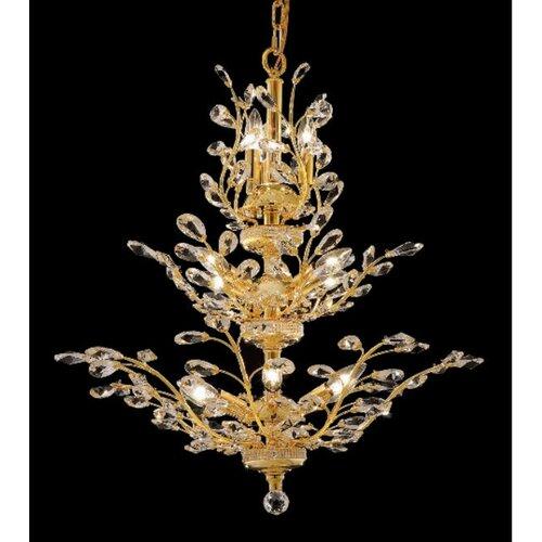 Elegant Lighting Orchid 13 Light Chandelier