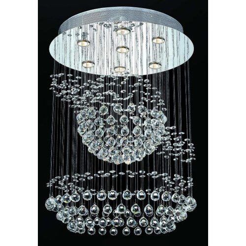 "Elegant Lighting Galaxy 7 Light 26"" Semi Flush Mount"