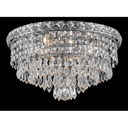 "Elegant Lighting Tranquil 4 Light 14"" Semi Flush Mount"