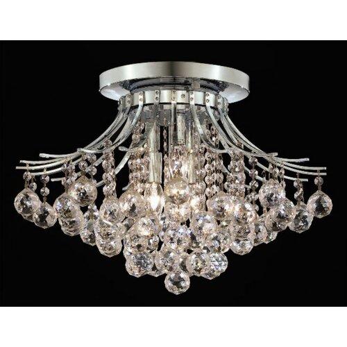 Elegant Lighting Toureg 6 Light Semi Flush Mount
