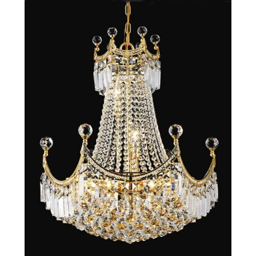 Elegant Lighting Corona 9 Light Chandelier