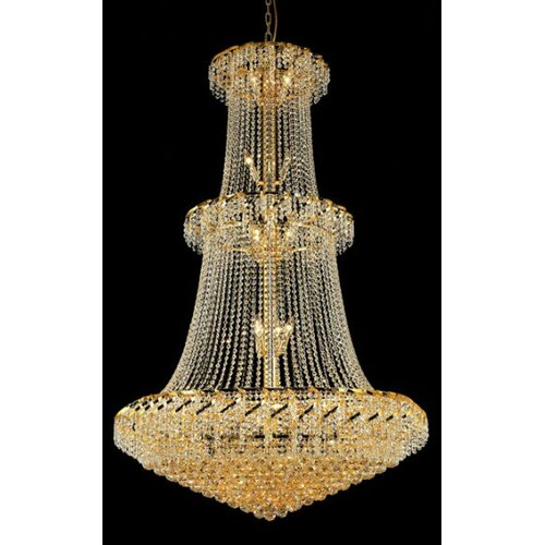Elegant Lighting Belenus 32 Light  Chandelier with Crystal